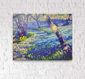 """Hyacinth Trail"" 11x14 canvas wrap art print by Artist Kristina Sellers"