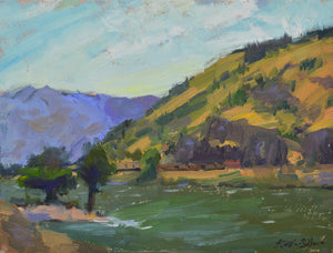 """Winds of Mosier"" 9x12 original oil painting by Artist Kristina Sellers"
