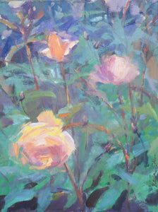 """Oregon Roses"" 14x11 original oil painting by Artist Kristina Sellers"