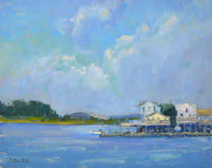 """Jersey Summer Homes"" 14x18 Original Oil Painting by Artist Kristina Sellers"