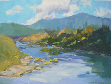 "Load image into Gallery viewer, ""On the Umpqua"", 12x16 Original Oil Painting by Artist Kristina Sellers"