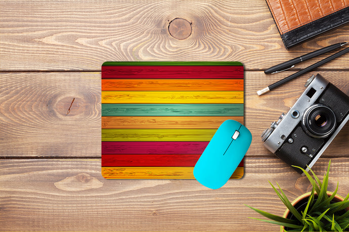 Multicolor Wooden Mouse Pad