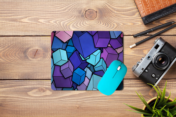 Cubes Abstract Mouse Pad