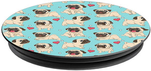Pug Dog Printed Pop Holder