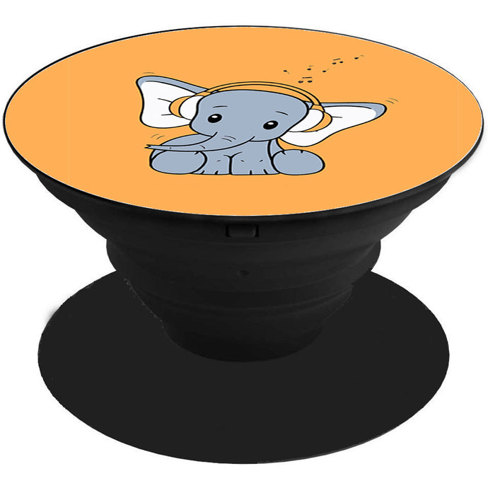 Baby Elephant Music Printed Pop Holder