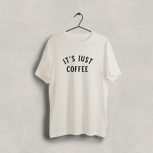 It's Just Coffee Short Sleeve Shirt - Cream