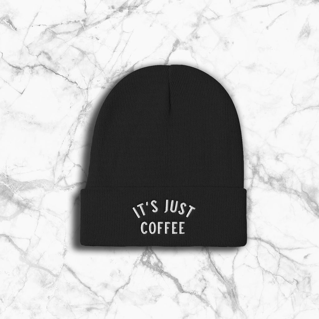 It's Just Coffee Beanie - Black