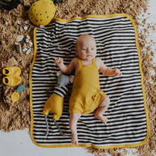 Load image into Gallery viewer, Baby Blanket Golden Yellow Organic Cotton Double sided.