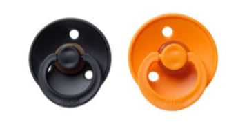 Bibs Pacifier Black-Apricot Combination 2 pack