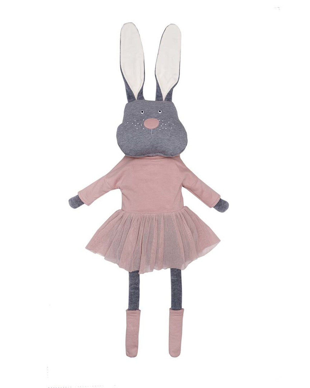 Toy Bunny with Pink tutu skirt. By Wooly Organic