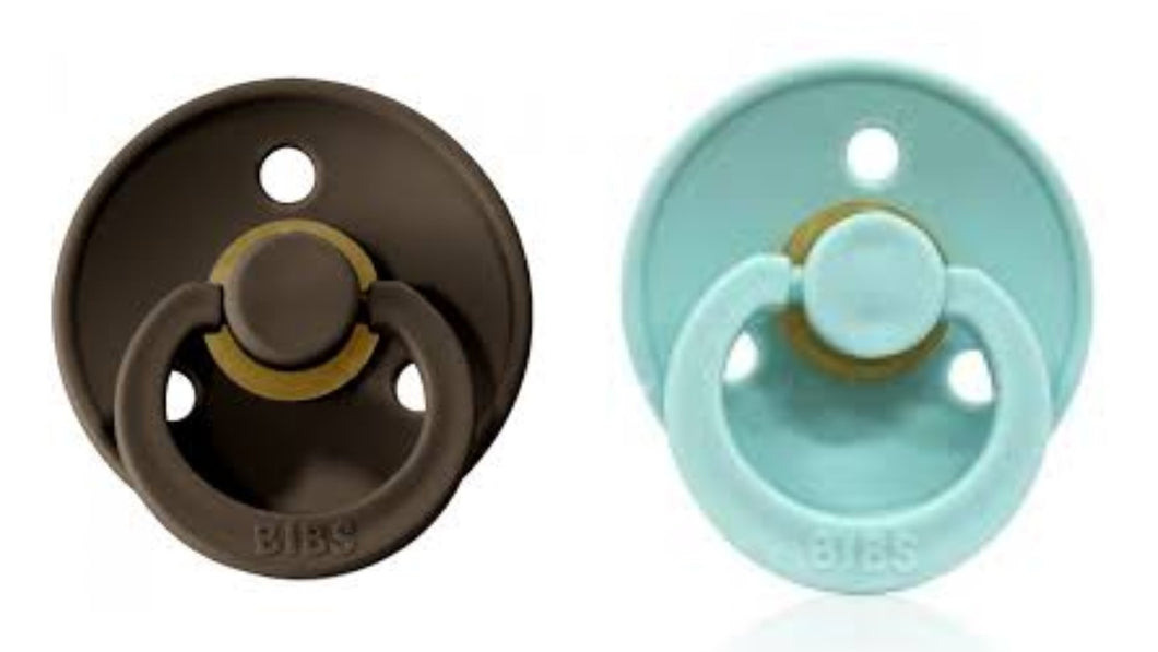 Bibs Pacifier Chocolate and Mint Combination Pack of 2