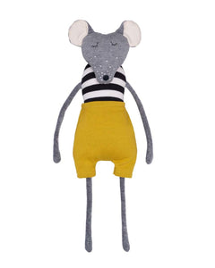 Toy Mouse with Yellow Shorts. By Wooly Organic