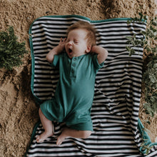 Load image into Gallery viewer, Baby Blanket Sea  Pine Organic Cotton Double sided. By Wooly Organic