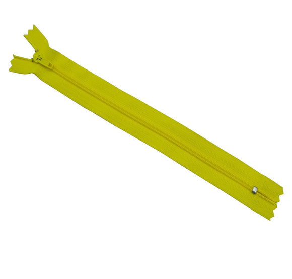 YKK Nylon Zipper 8 inches (Canary Yellow)