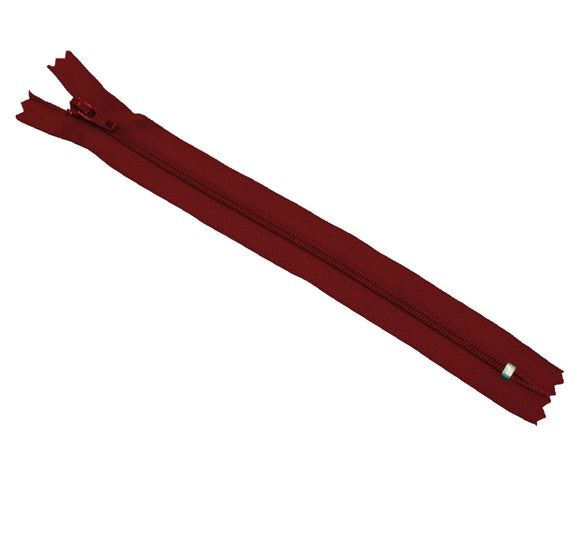 YKK Nylon Zipper 8 inches (Maroon)