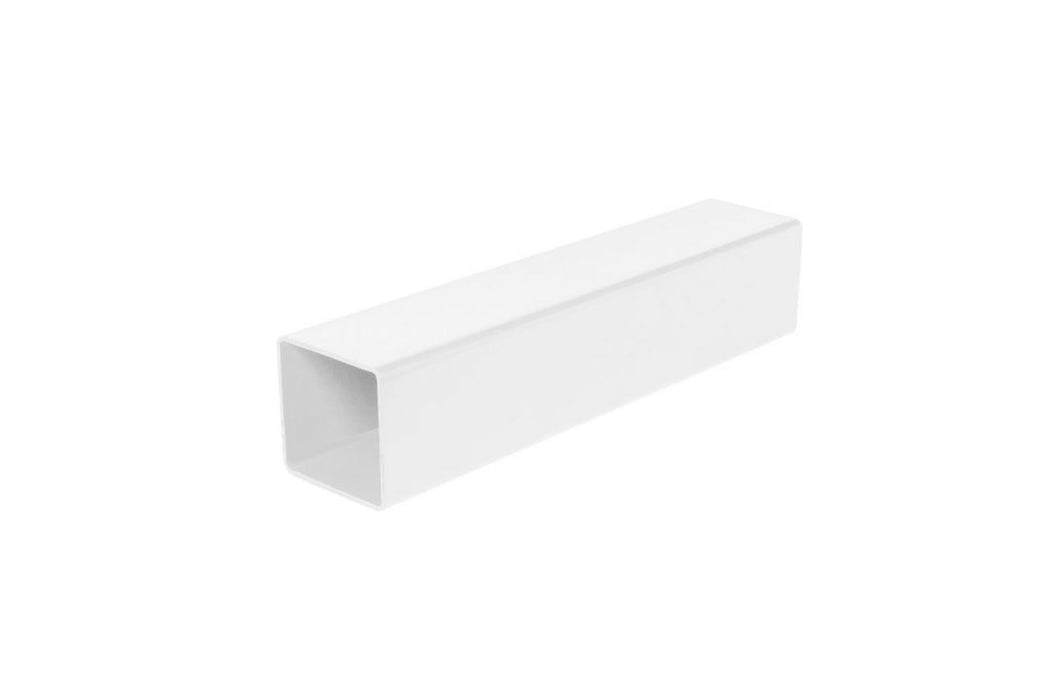 Downpipe - White Square - 4 Metre