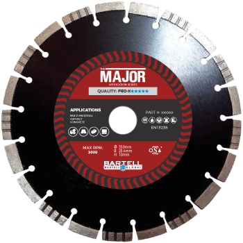 "12"" 300mm pro x major diamond blade"
