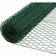 wire netting green pvc 600 x 25 x 10mtr