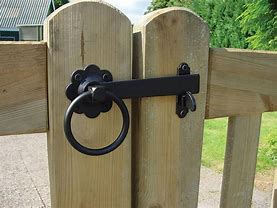 gate/ring latch black