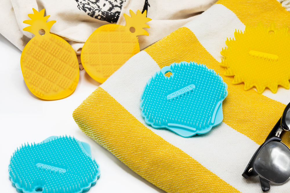 Pineapple Scrubby's Long-Lasting Non-Abrasive Silicone Scrubber