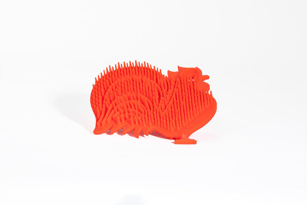Rooster Scrubby's Long-Lasting Non-Abrasive Silicone Scrubber