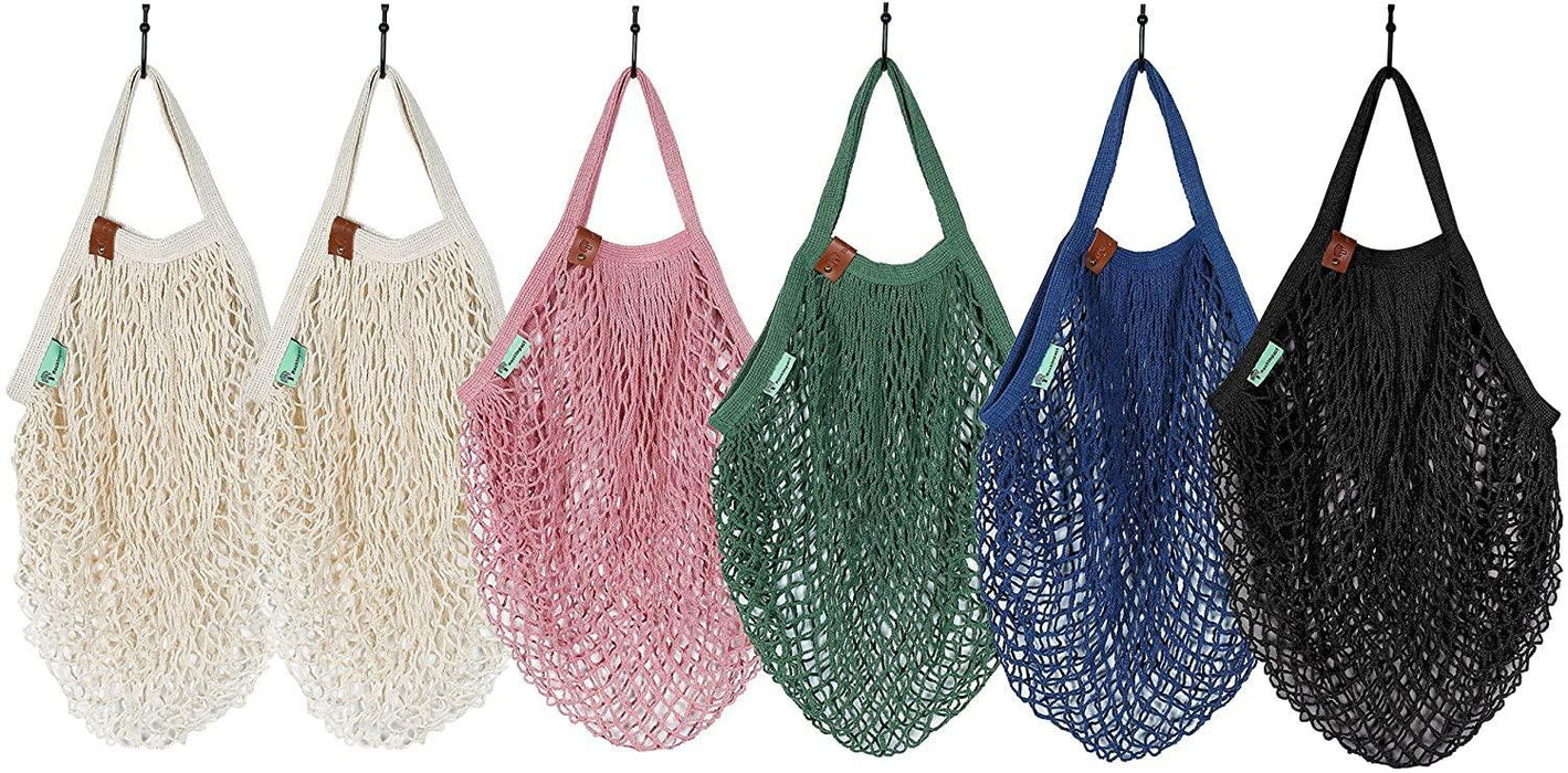 Organic Cotton Net Market Bag - Tote Handle