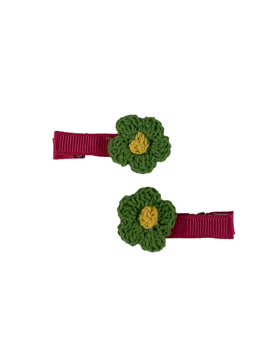 Crochet Flower Hair Clip Set