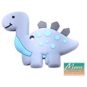 BPA-Free Baby Dinosaur Baby Teething Toy 100% Food Grade Silicon Teether (Gray)