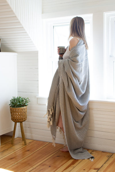 Plush Herringbone Blanket