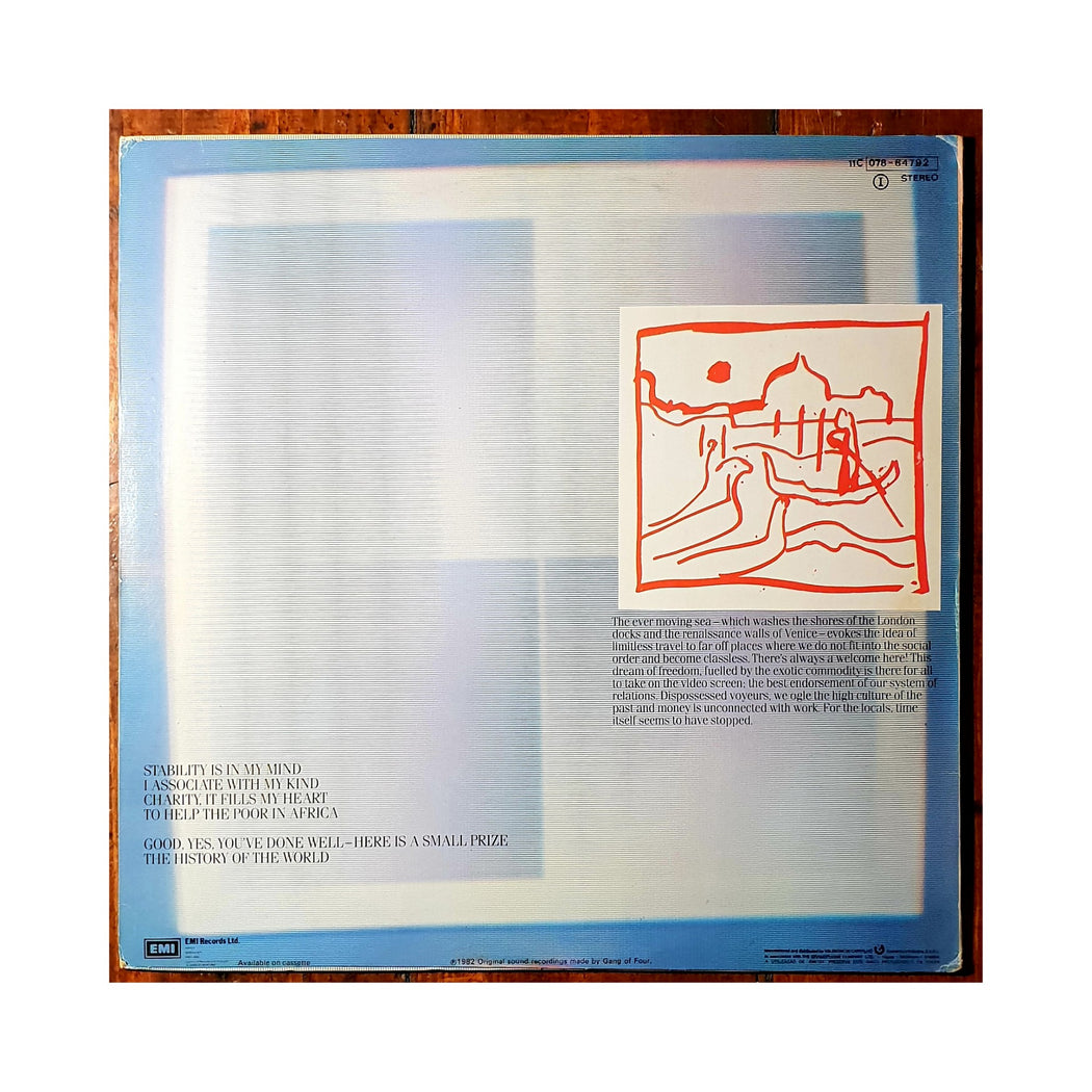 Gang Of Four: Songs Of The Free (Vinyl LP) | Vinyl Record