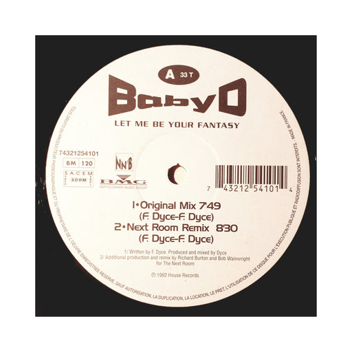 "Baby D: Let Me Be Your Fantasy (Vinyl 12"") 