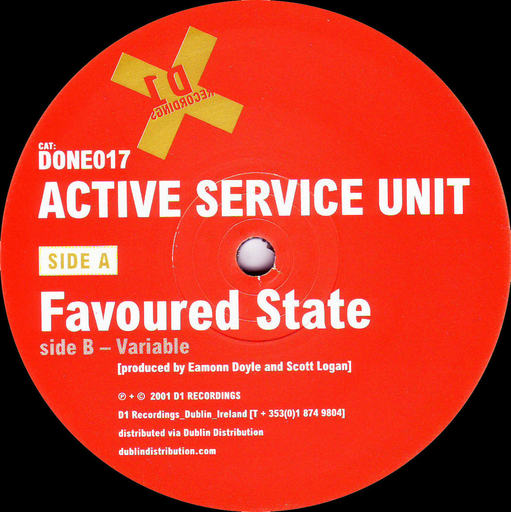 "Active Service Unit: Favoured State (Vinyl 12"") 
