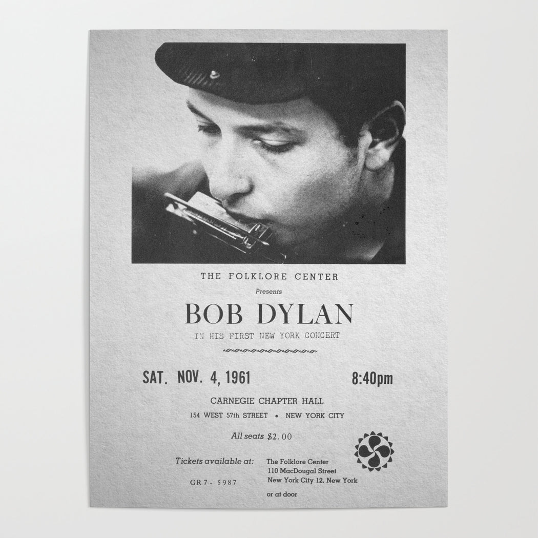 Bob Dylan: The Folklore Center Presents Bob Dylan In His First New York Concert (Vinyl LP) | Optic Music | Buy Vinyl Online
