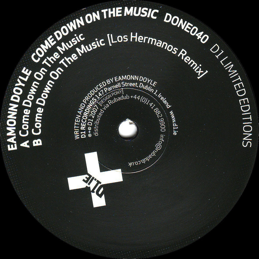 "Eamonn Doyle: Come Down On The Music (Vinyl 12"") 