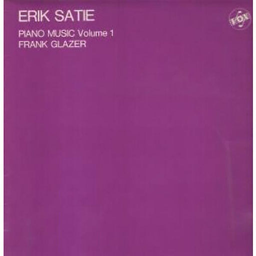 Erik Satie: Piano Music Volume 1 (Vinyl LP) | Optic Music | Buy Vinyl Records Online