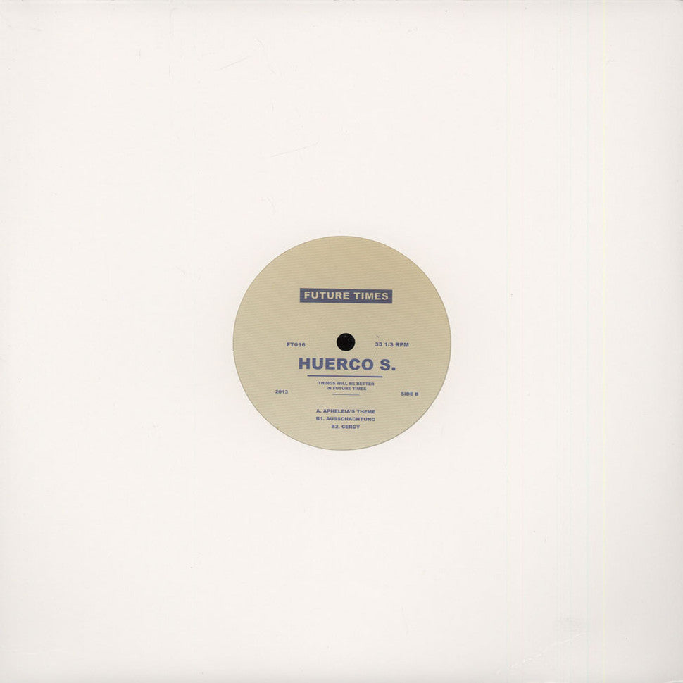 "Huerco S: Apheleia's Theme (Vinyl 12"") 