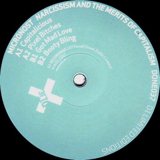 "Micronost: Narcissism And The Merits Of Capitalism (Vinyl 12"") 