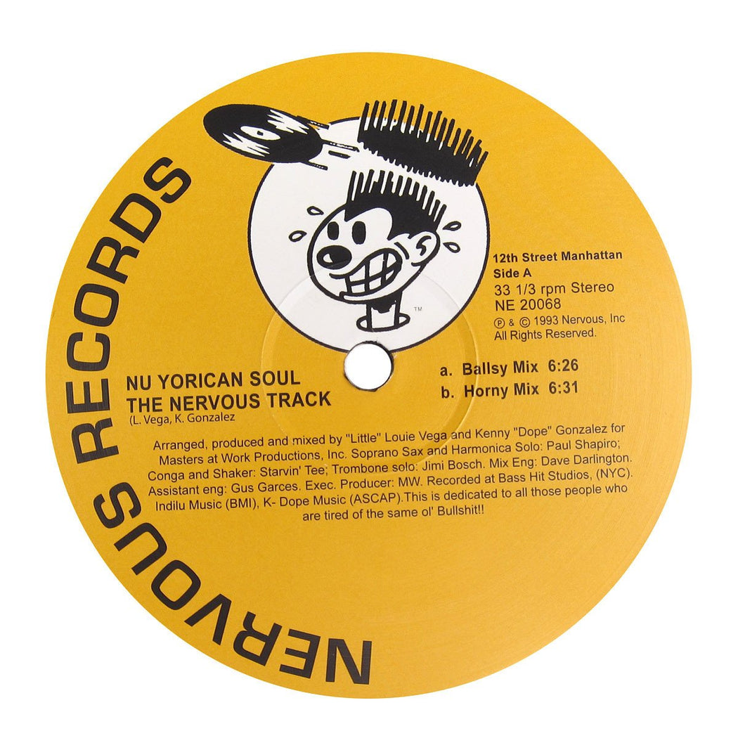 "Masters At Work Presents Nu Yorican Soul: The Nervous Track (Vinyl 12"") 
