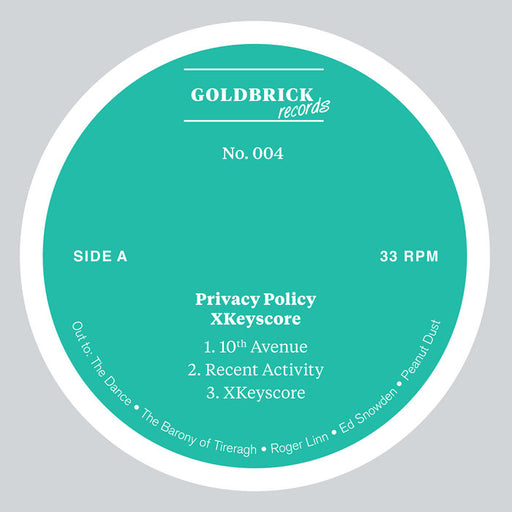 "Privacy Policy: XKeyscore (Vinyl 12"") 