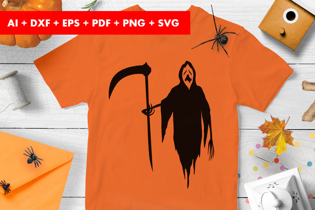 Ghost Silhouette Halloween Vector SVG PNG transparent