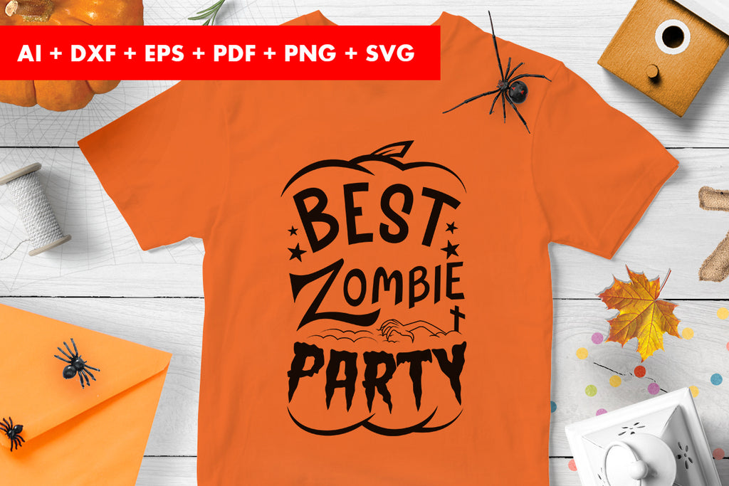Best zombie party halloween vector svg png transparent