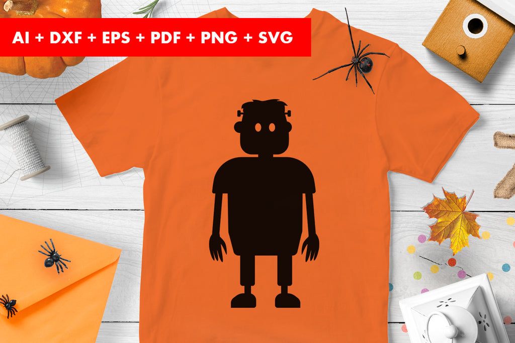 Frankenstein Halloween Vector SVG PNG transparent
