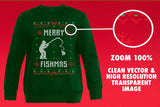 Merry Fishmas Transparent SVG