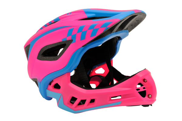 NEW IKON Full Face Helmets From Kiddimoto Pink Complete Protection