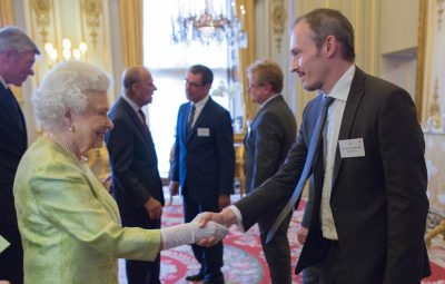 Kiddimoto Business Development Manager Will Meeting The Queen