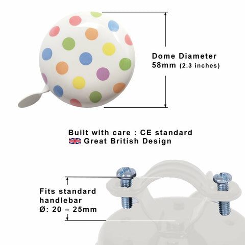 Image of Pastel Dotty Bicycle Bell