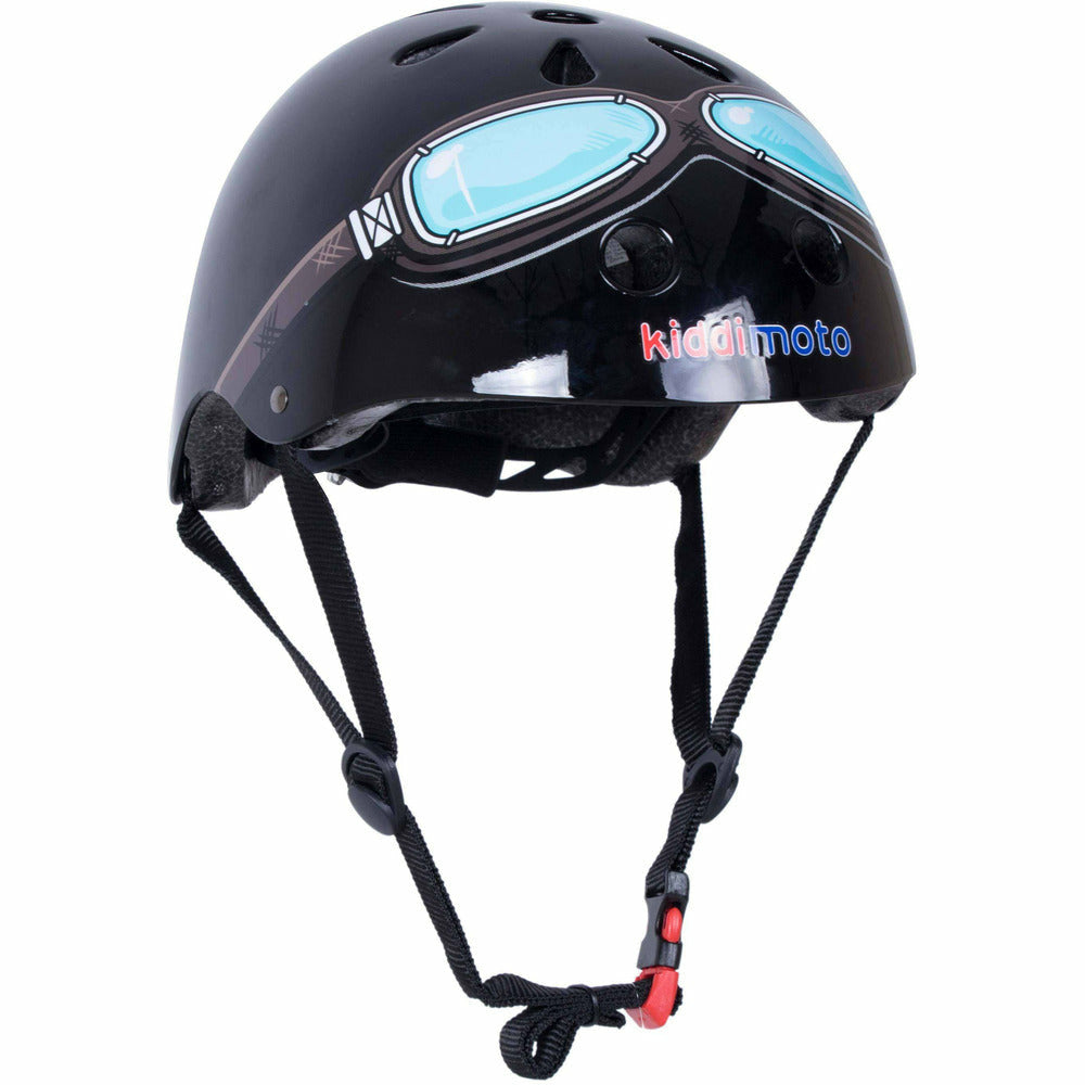 Kiddimoto Black Goggle Kids Bicycle Helmet Ages 2-5 years and 5+