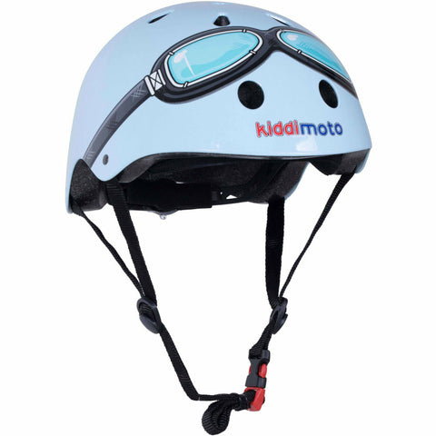 Image of Kiddimoto Blue Goggle Kids Helmet