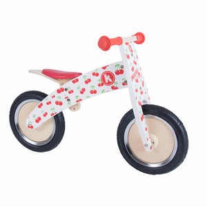 Kiddimoto Wooden Balance Bike Cherry