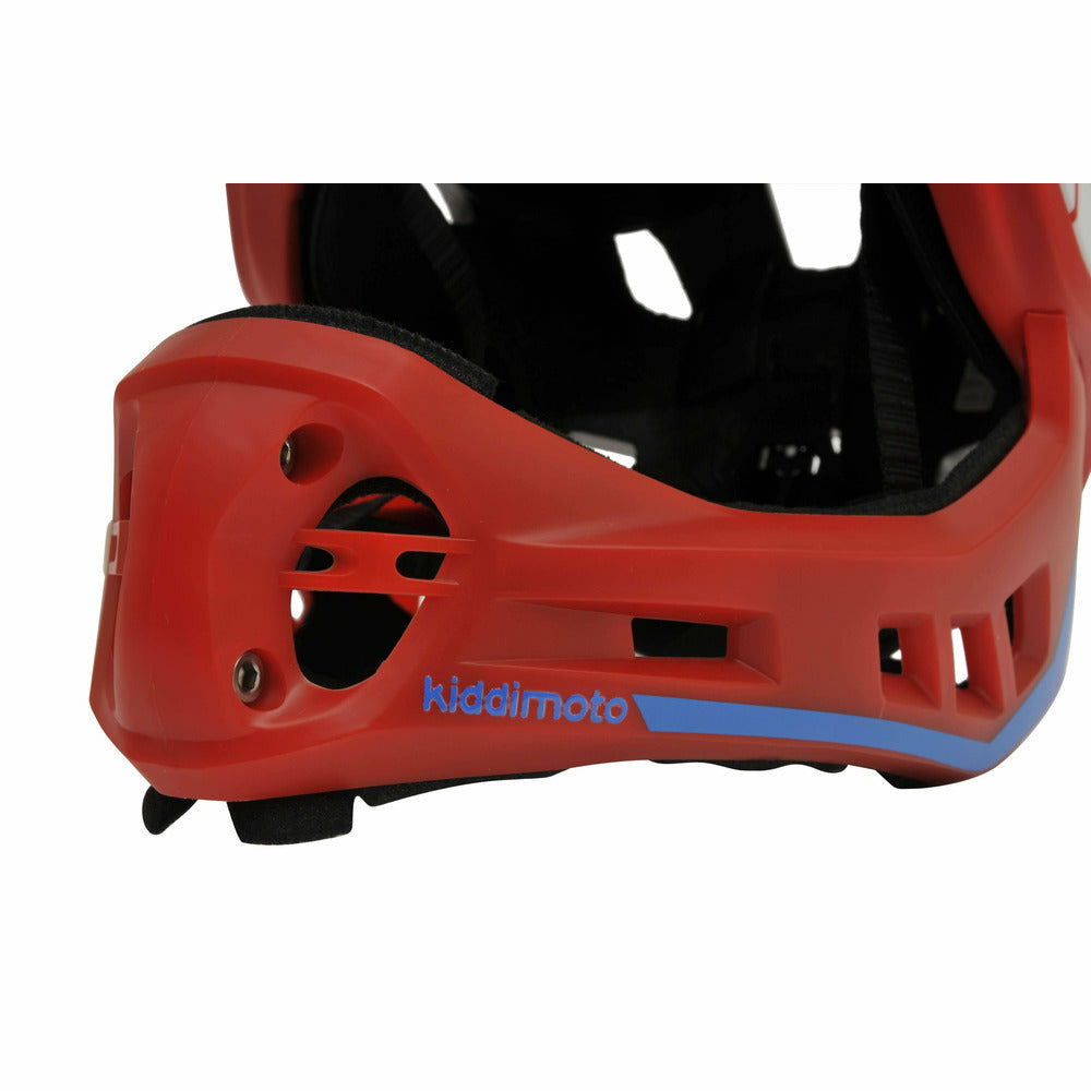 Kiddimoto Launch Full Face Kids Helmets Red